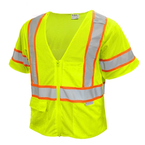 Ansi Class 3 High Visibility Safety Vest Reflective Clothing